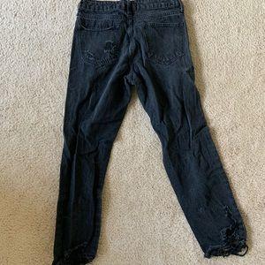 Fashion Nova Jeans - Black Distressed Boyfriend Jeans
